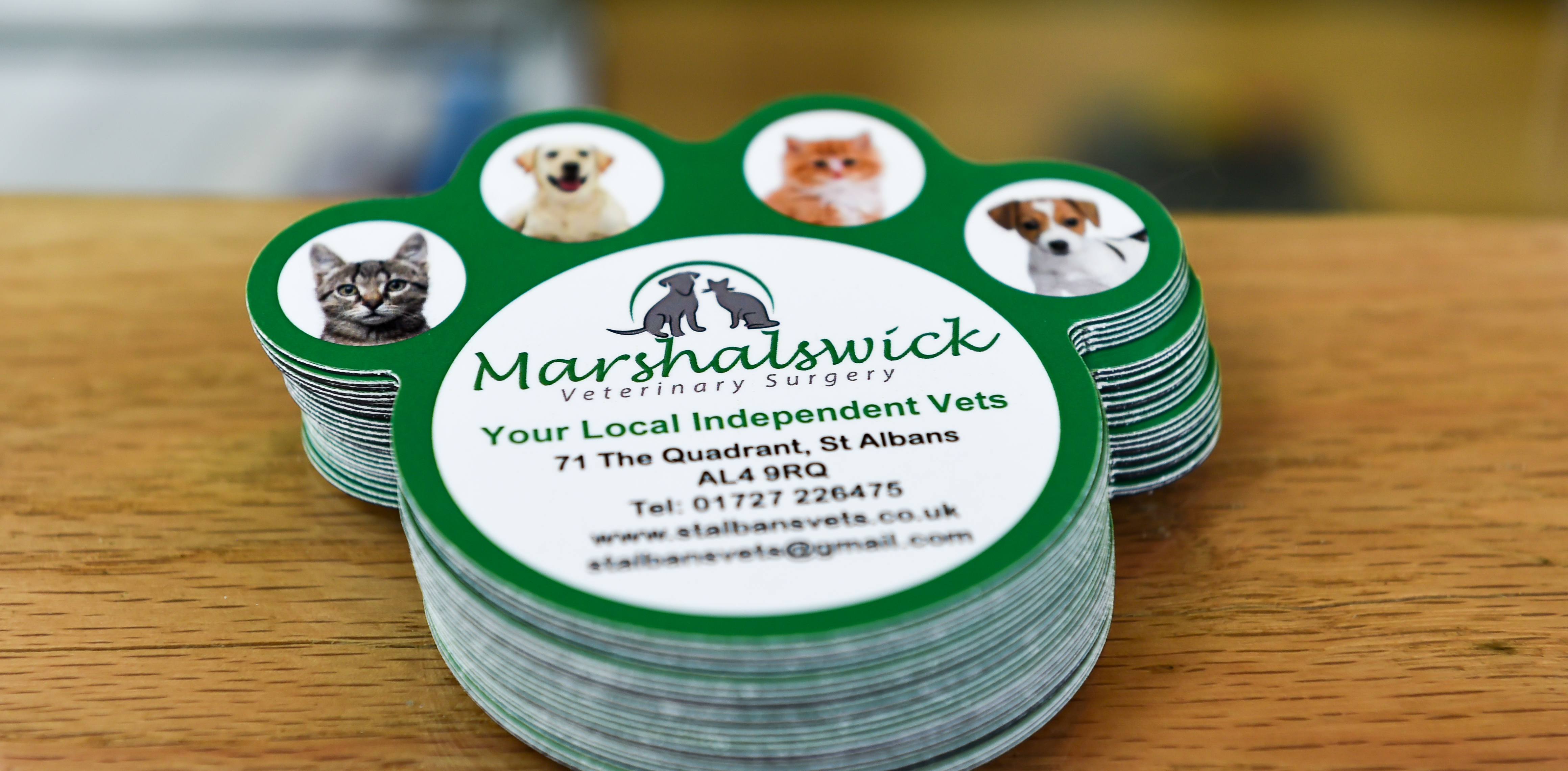 Register with the Marshalswick Veterinary Surgery